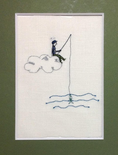 Fishing in the Sky - Reading Book Pillow