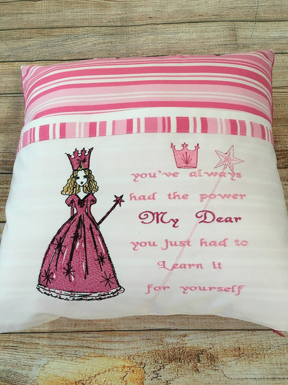 Wizard of Oz Collection - Glinda WORDS ONLY - Reading Book Pillow Design