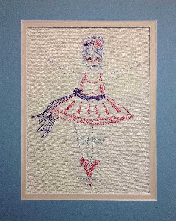 Granny Ballerina - Reading Book Pillow Embroidery Design