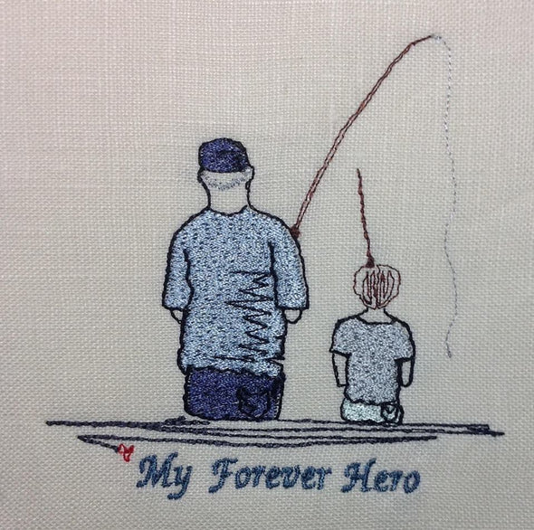 My Forever Hero - Father or Granddad Fishing with Boy