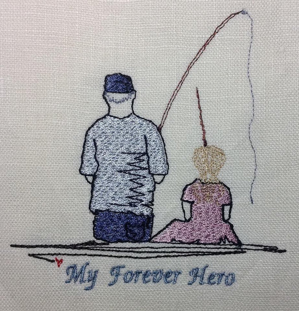 My Forever Hero - Father or Granddad Fishing with Girl