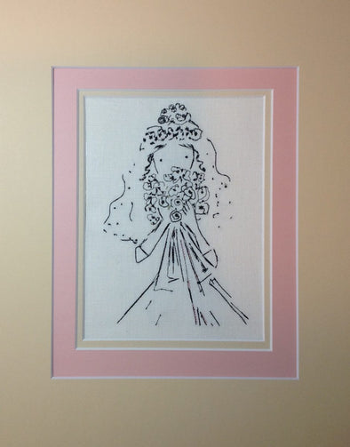 Bride with Flowers - Embroidery Design