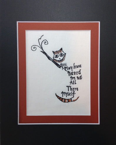 Alice in Wonderland Collection - Cheshire Cat with Saying