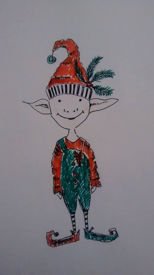 Christmas Elf Boy Squidge - Embroidery Design