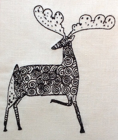 Christmas Reindeer Swirly - Embroidery Design