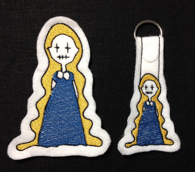 Rapunzel Tangled Key Fob, Feltie and Large Size - In the Hoop Embroidery Design