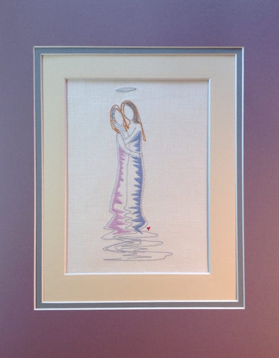Forever Mine Collection - Angel Mother and Daughter - Embroidery Design