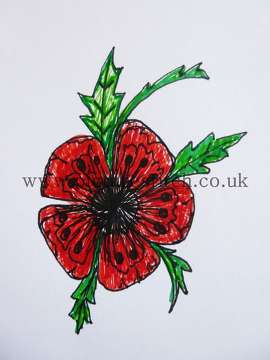 Poppy Flower - Embroidery Design