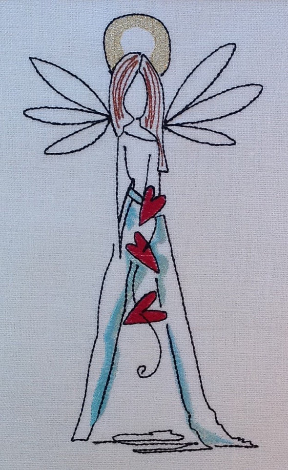 Forever Mine Collection - Angel Mother - Embroidery Design