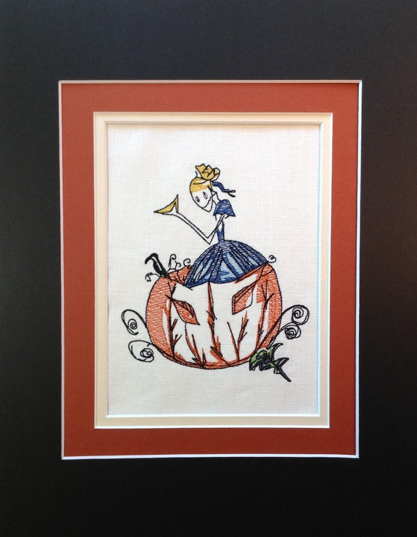 Halloween Pumpkin Cinders - Embroidery Design