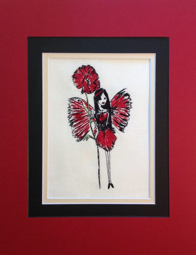 Red Poppy Fairy - Embroidery Design