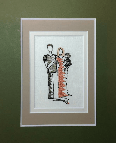 Forever Mine Collection - Father, Mother, Daughter in Arms - Embroidery Design