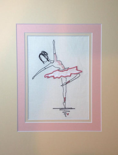 Ballerina - Embroidery Applique Design