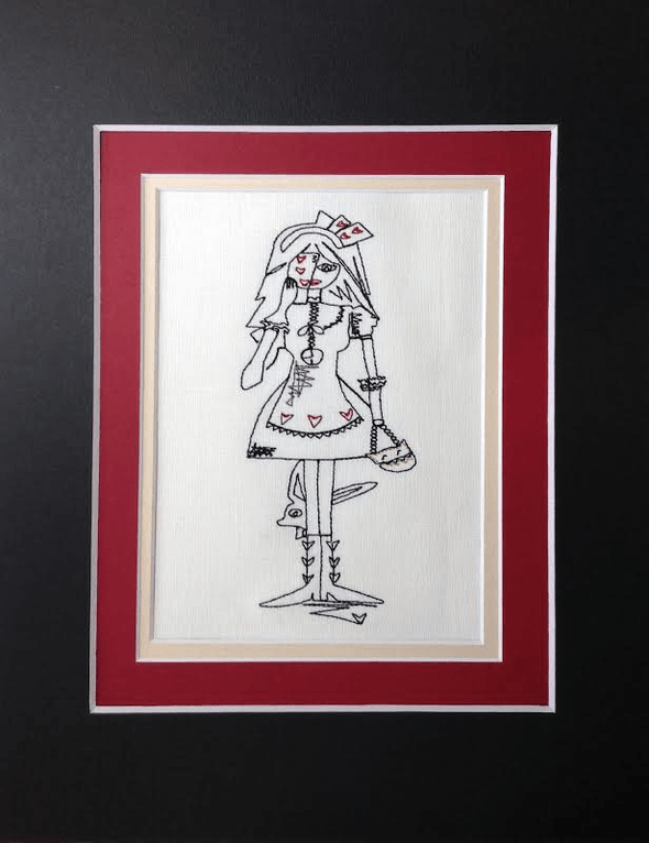 Alice in Wonderland Collection - Alice Playing Cards - Embroidery Design