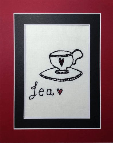 Alice in Wonderland Collection - Tea - Embroidery Design