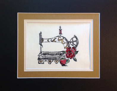 Vintage Sewing Machine - Embroidery Design