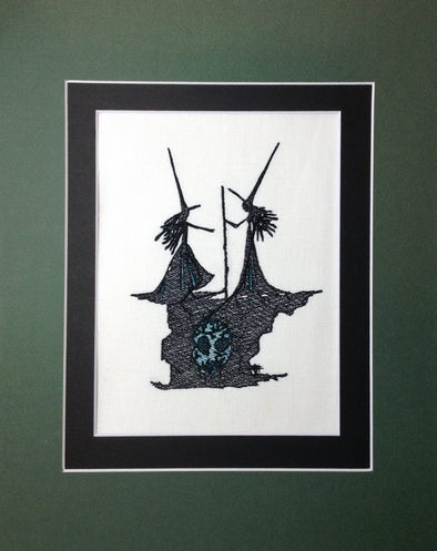 Wizard of Oz Collection - Twin Witches - Embroidery Design