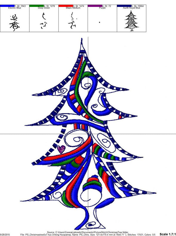 Christmas Tree - Embroidery Design