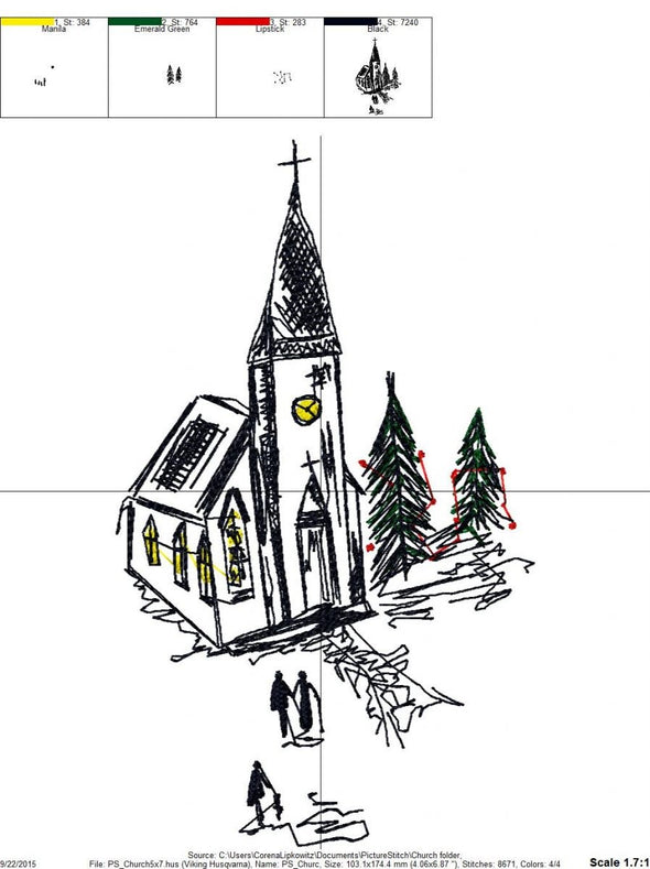 Church - Embroidery Design