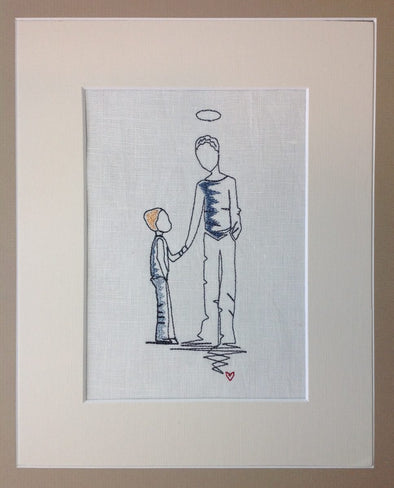 Forever Mine Collection - Son and Angel Dad - Embroidery Design