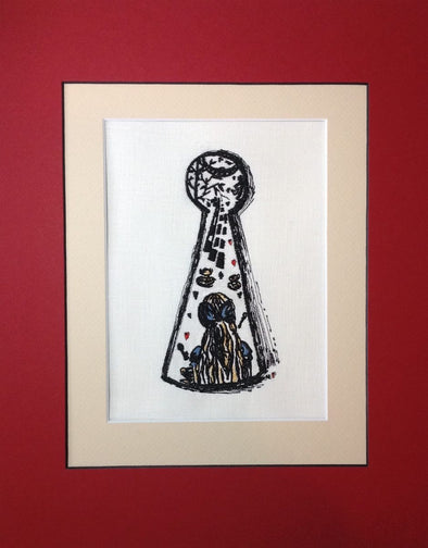 Alice in Wonderland Collection - Girl in the Keyhole - Embroidery Design