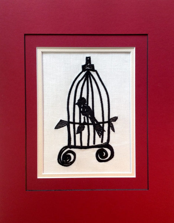 Bird Cage - Embroidery Design