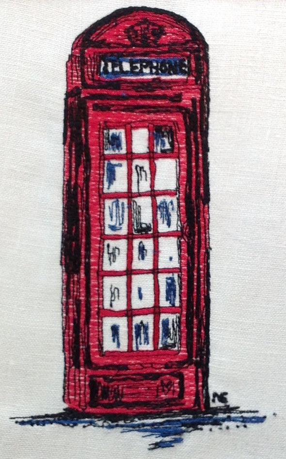 Telephone Box - Embroidery Design