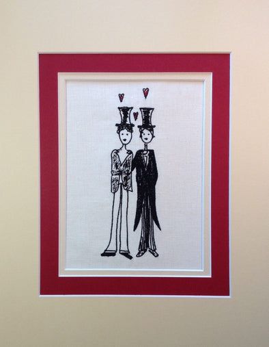 Mr and Mr - Embroidery Design