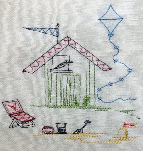 Beach Hut Play - Embroidery Design