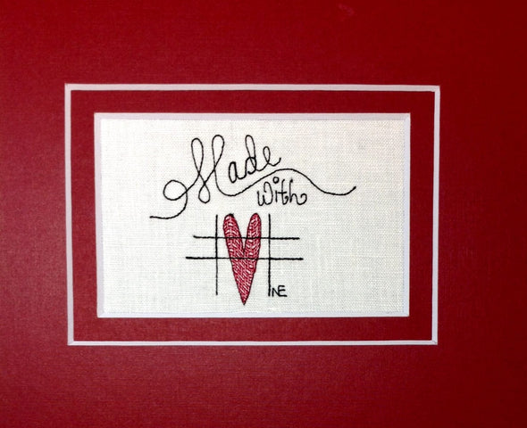 Made with Love - Embroidery Design
