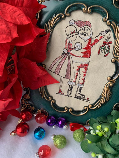 Urban Machine Embroidery- I saw Mommy Kissing Santa under the Mistletoe