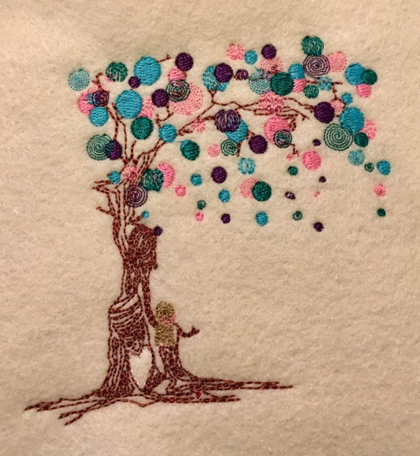 Tree of Life - Urban Embroidery Design Mother & Daughter