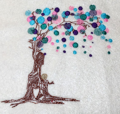 Tree of Life - Urban Embroidery Design Mother & Son