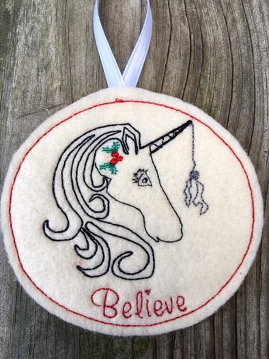 ITH Christmas Unicorn Bauble