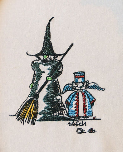 Gnome Witch and Flying Monkey oz
