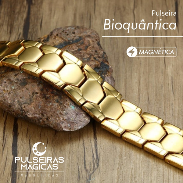 Pulseira Bioquântica Super Golden Man