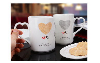 Couple Cup Ceramic Coffee Valentine's Day Gift (50% Off)