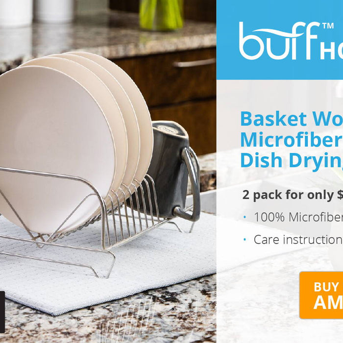 BASKET WOVEN DISH DRYING MAT BY BUFF™ HOME