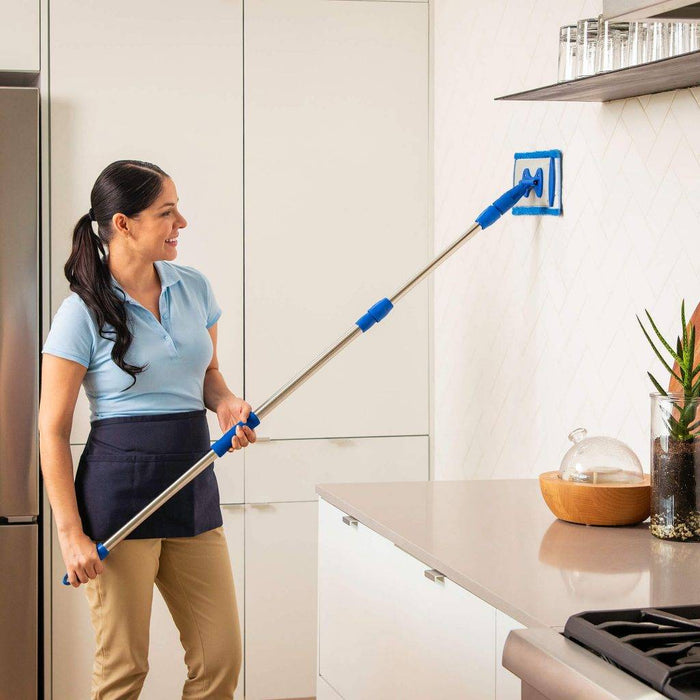 PREMIUM MINI MICROFIBER MOP SYSTEM – GREAT FOR FLOORS, WALLS, CEILINGS