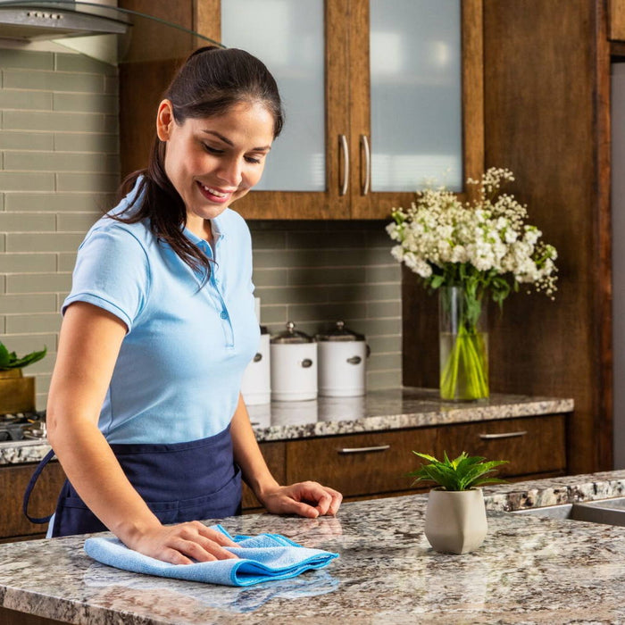 BLUE MICROFIBER TOWELS & CLEANING CLOTHS