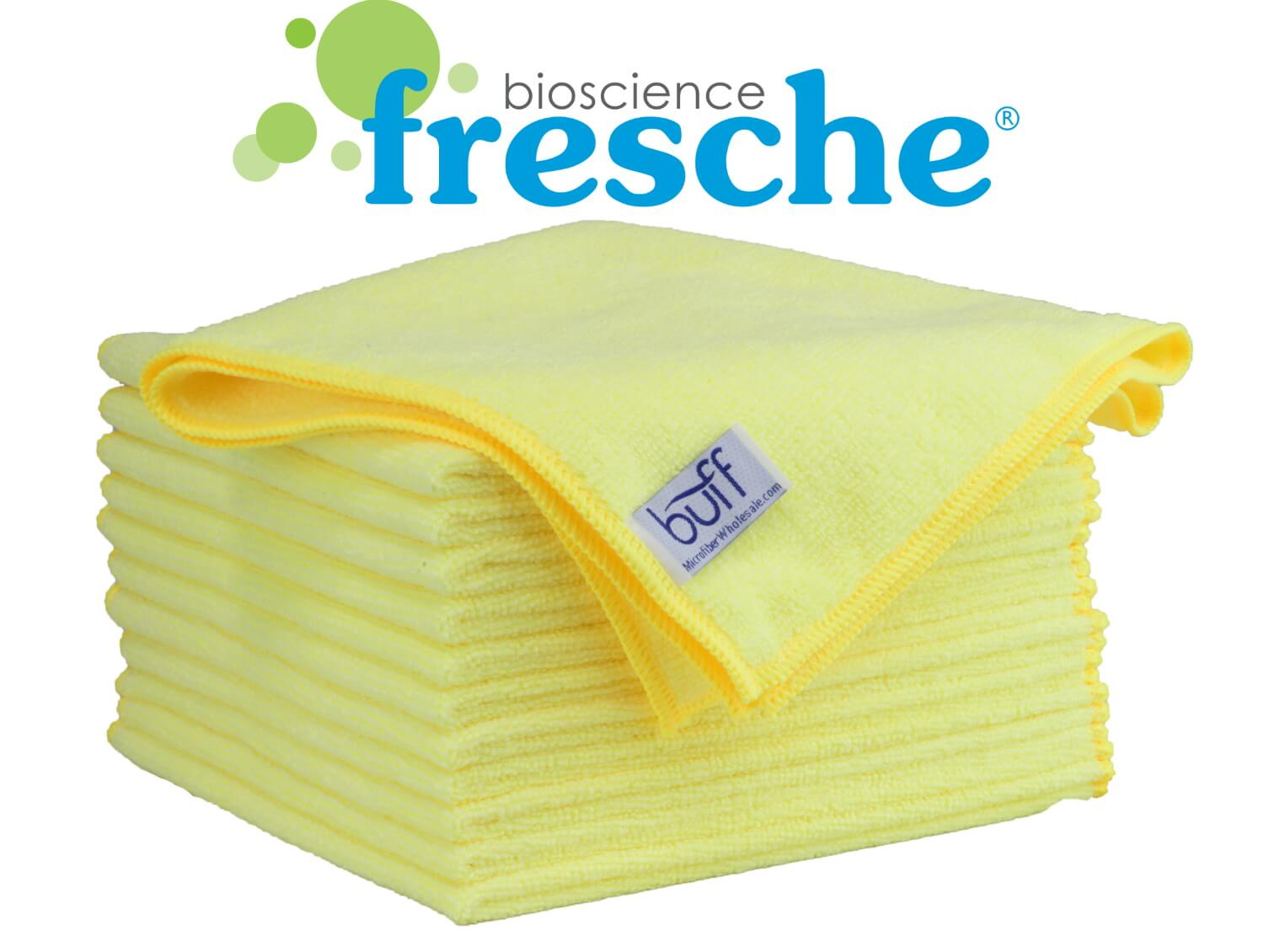 buff™ pro antimicrobial microfiber towel with fresche® logo