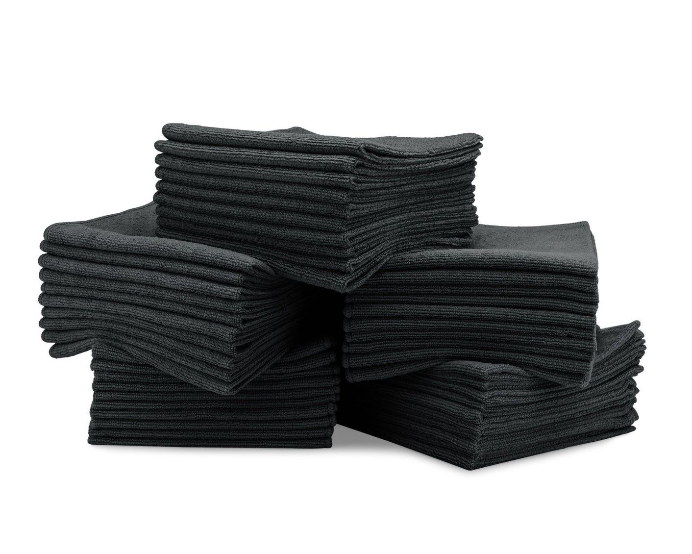 16 x 16 Microfiber Towels Bulk 50 Pack Black