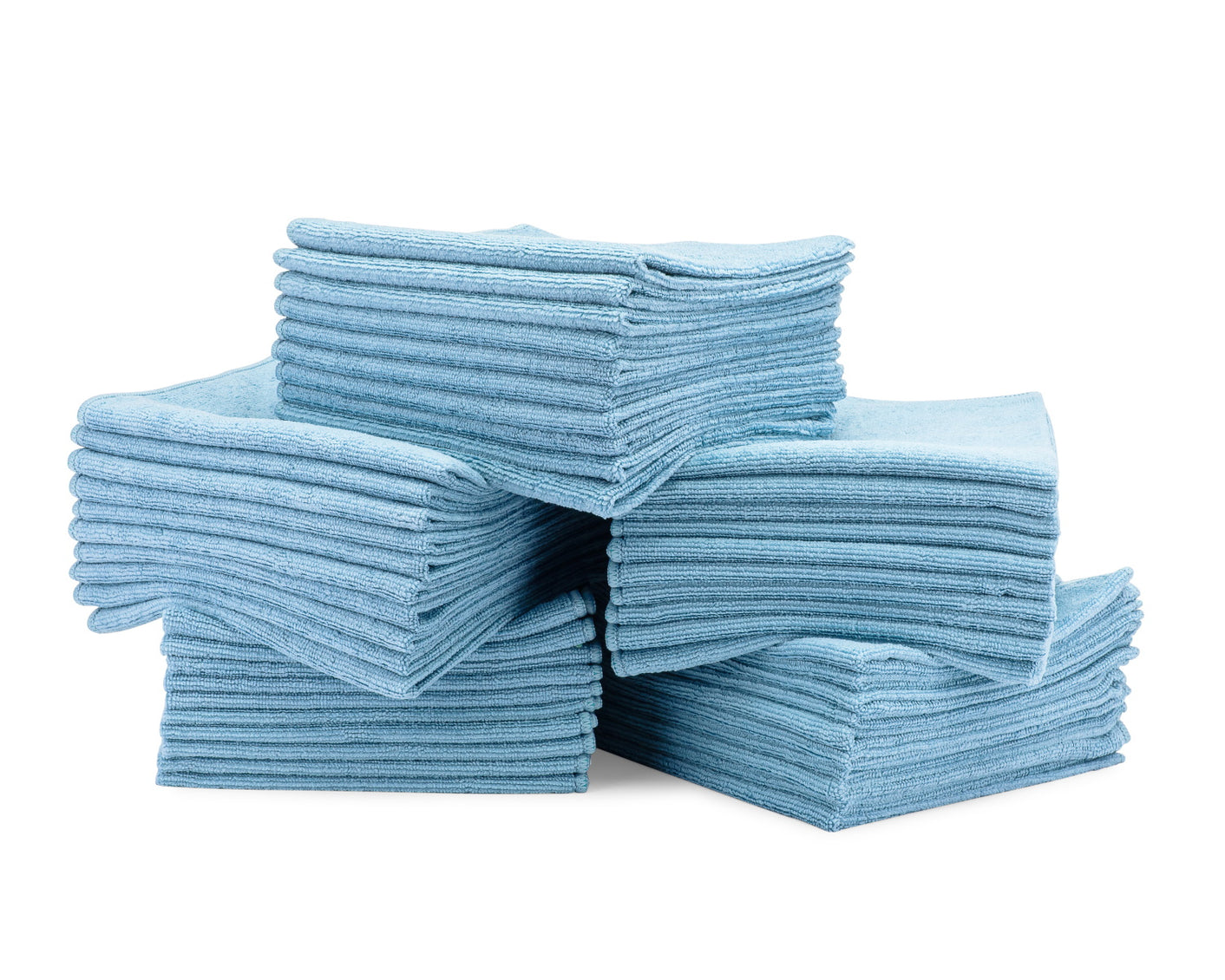 16 x 16 Microfiber Towels Bulk 50 Pack Blue