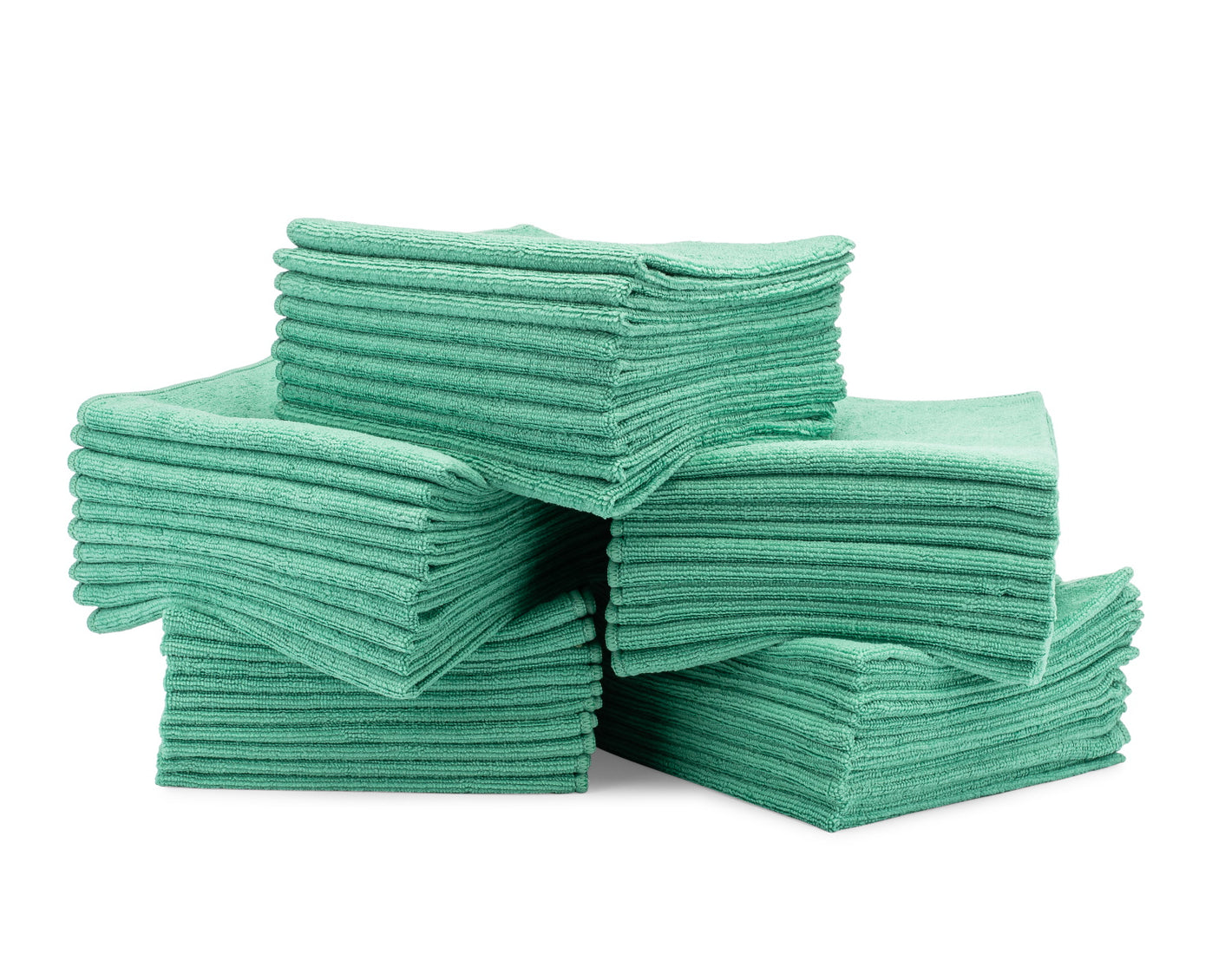 16 x 16 Microfiber Towels Bulk 50 Pack Green