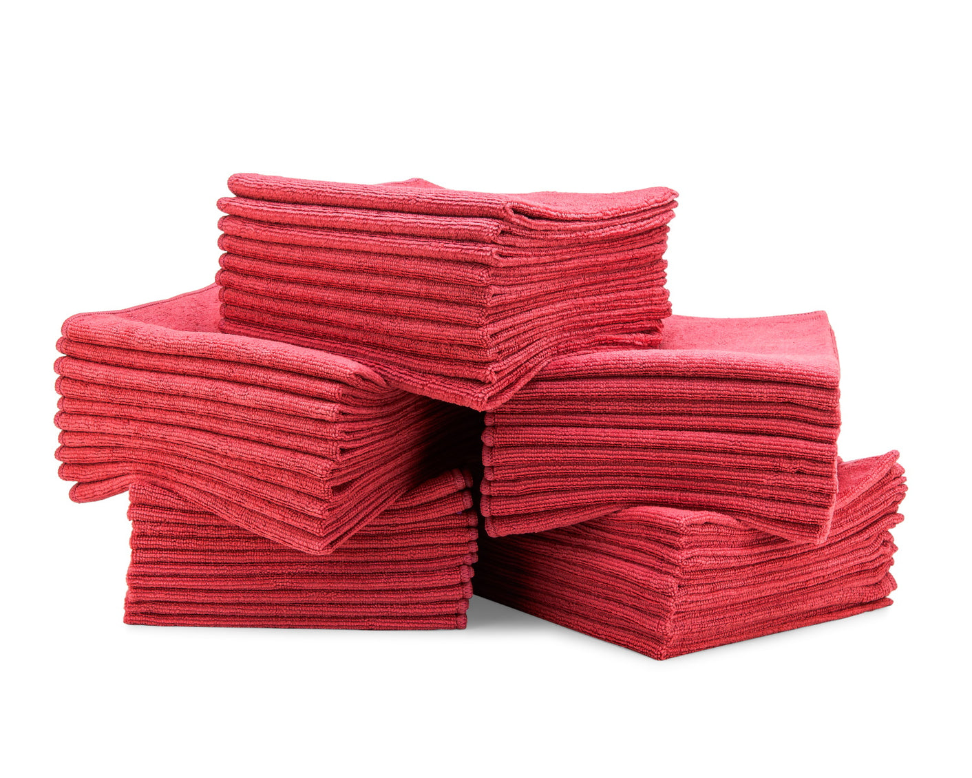 16 x 16 Microfiber Towels Bulk 50 Pack Red