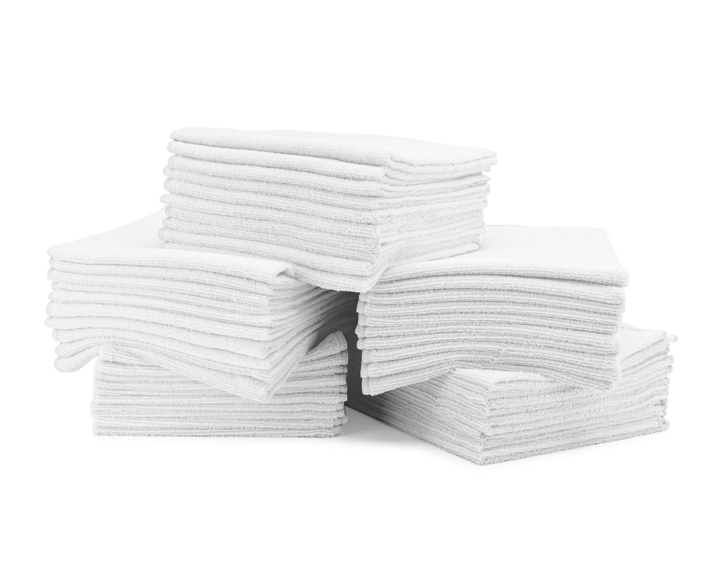 16 x 16 Microfiber Towels Bulk 50 Pack White