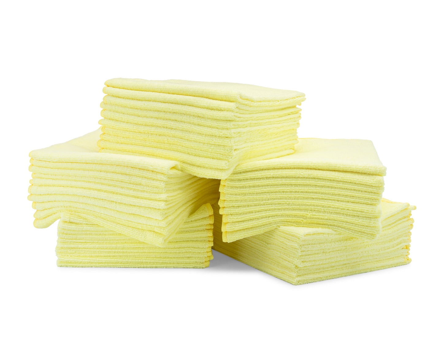 16 x 16 Microfiber Towels Bulk 50 Pack Yellow