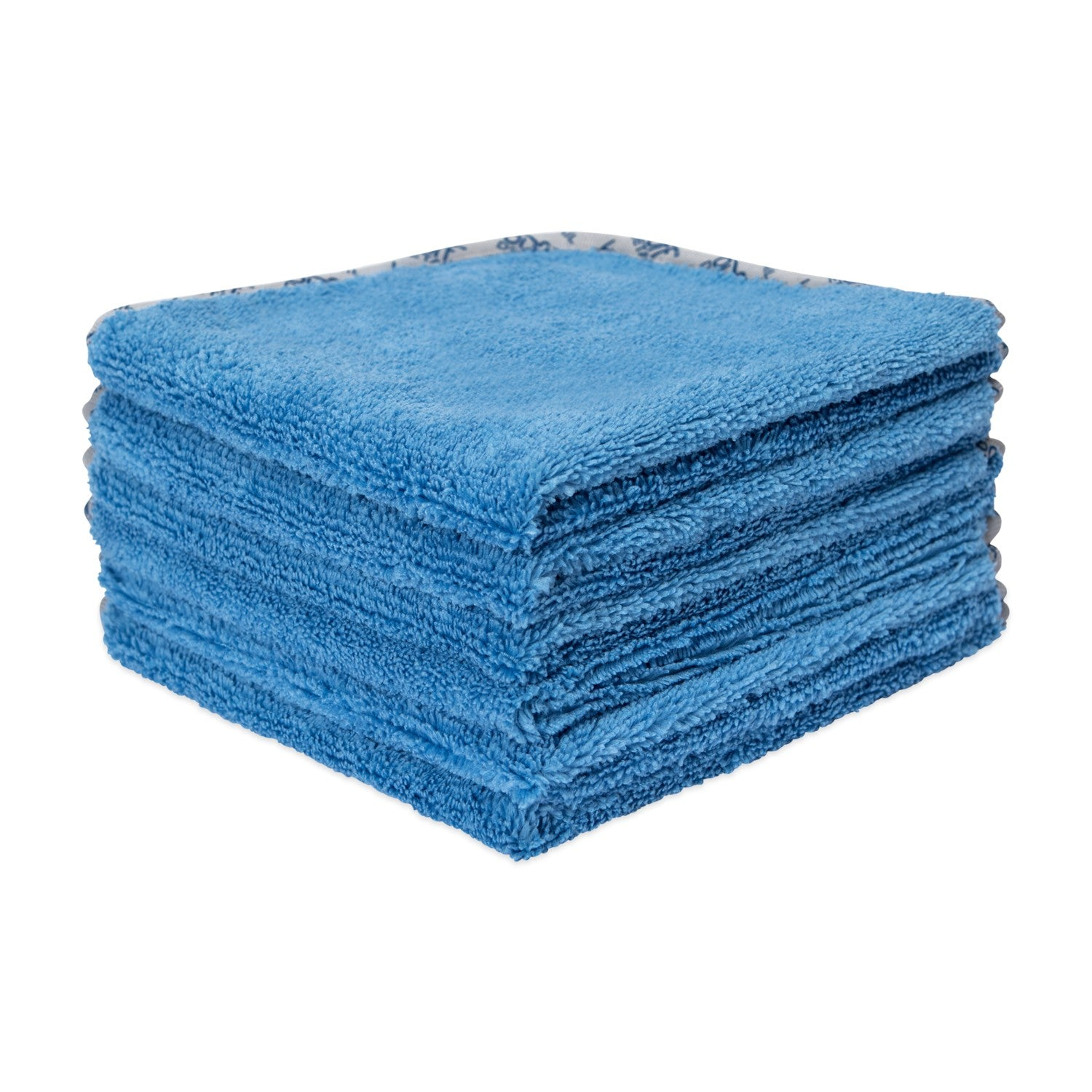 16 x 16 Blue Microfiber Towels For Cars 400 GSM