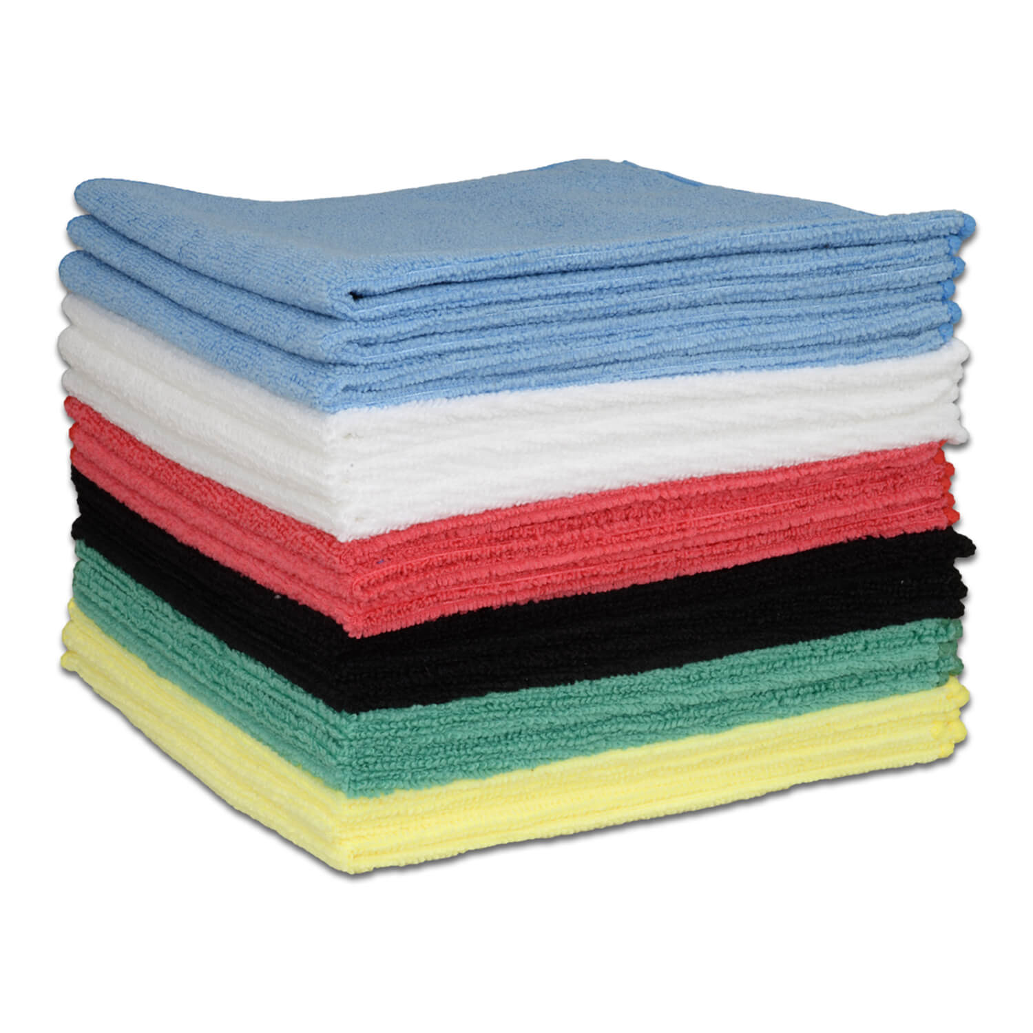 "16"" x 16"" Economy All Purpose Microfiber Towels All Colors"
