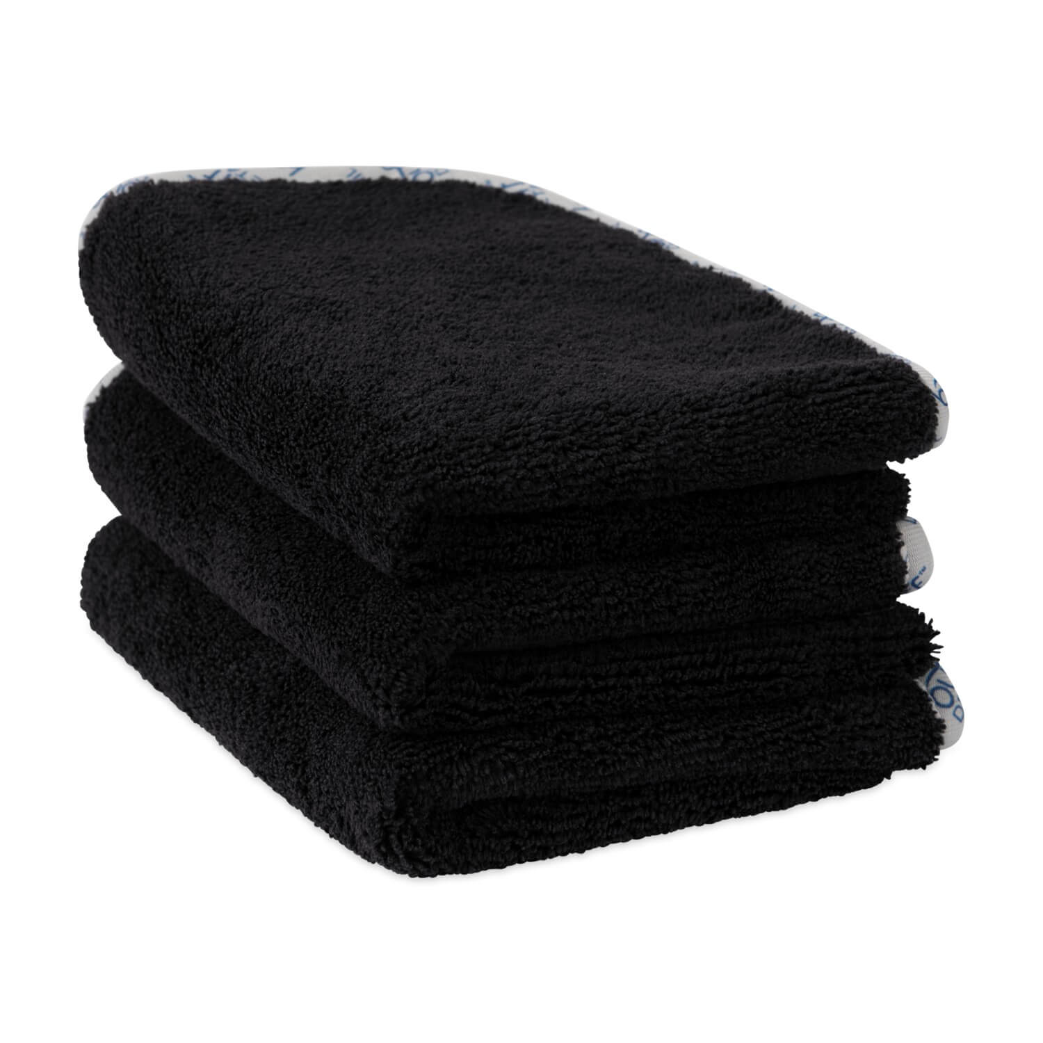 Black Microfiber Detailing Towels